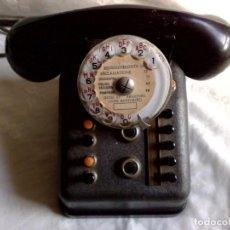 Teléfonos: ANTIGUO TELEFONO-CENTRALITA DE METAL Y BAQUELITA,MARCA TÉLIC,STRASBOURG (DESCRIPCIÓN). Lote 171192665