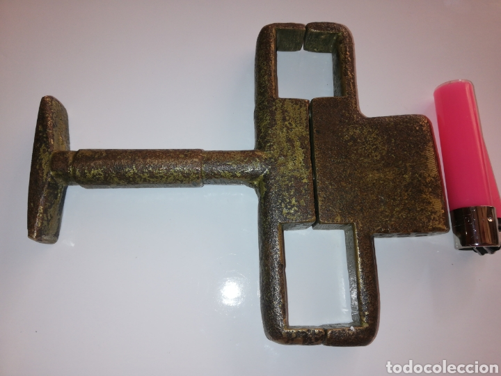 Antigüedades: Candado de bronce raro - Foto 3 - 171219448