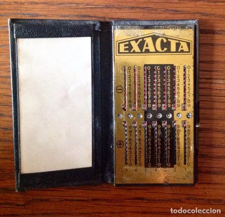 Antigüedades: ANTIGUA CALCULADORA MANUAL MARCA EXACTA COMPLETA. - Foto 3 - 171250527