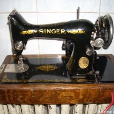 Antigüedades: MAQUINA DE COSER SINGER CON MOTOR.. Lote 171262982