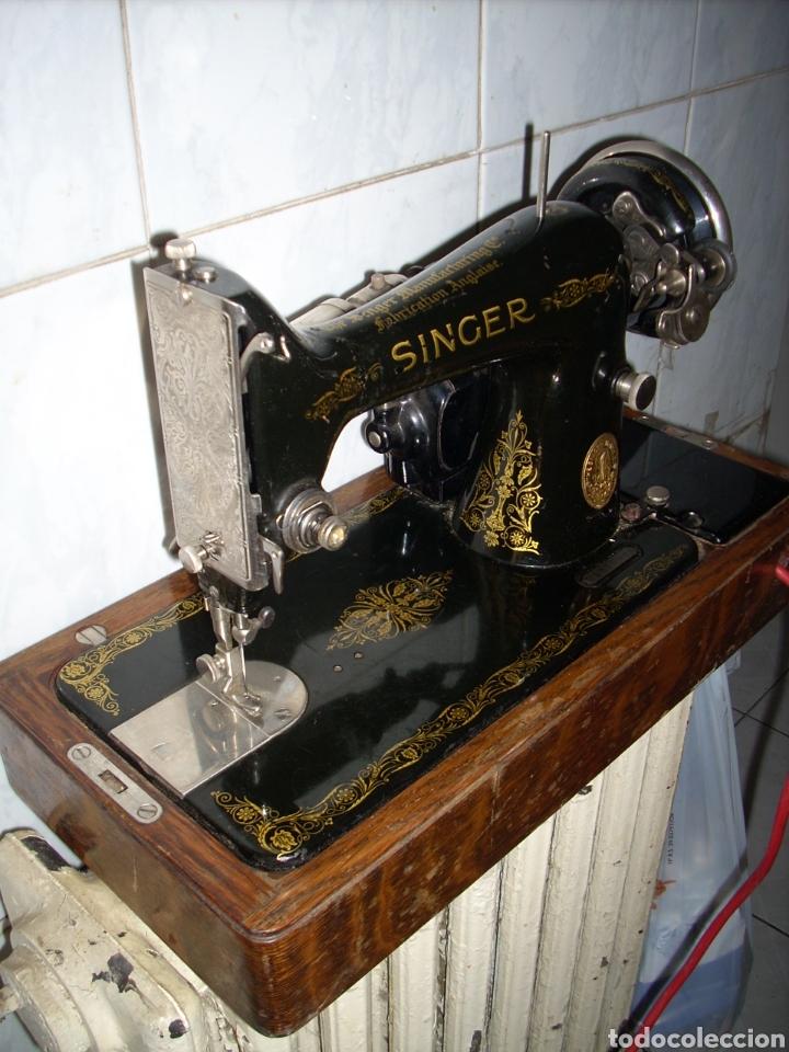 Antigüedades: Maquina de Coser Singer con Motor. - Foto 2 - 171262982