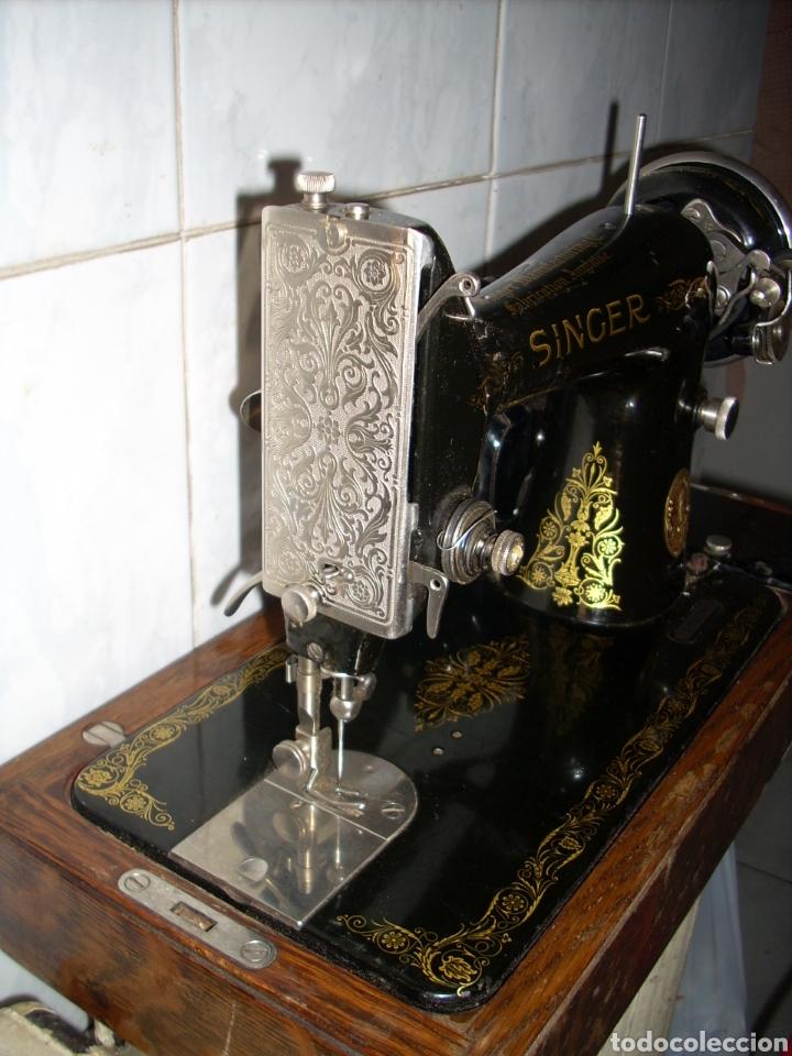 Antigüedades: Maquina de Coser Singer con Motor. - Foto 3 - 171262982