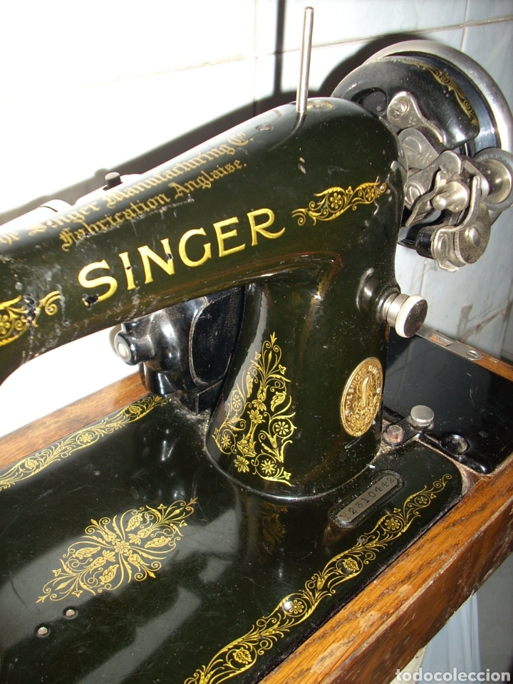 Antigüedades: Maquina de Coser Singer con Motor. - Foto 4 - 171262982