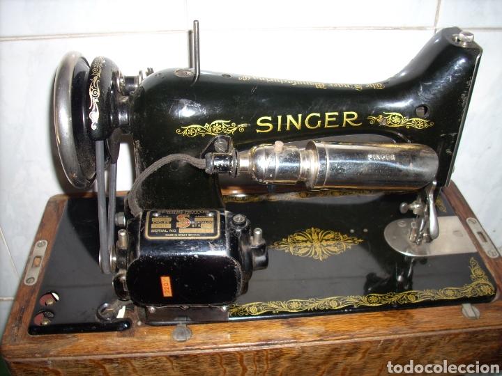 Antigüedades: Maquina de Coser Singer con Motor. - Foto 7 - 171262982