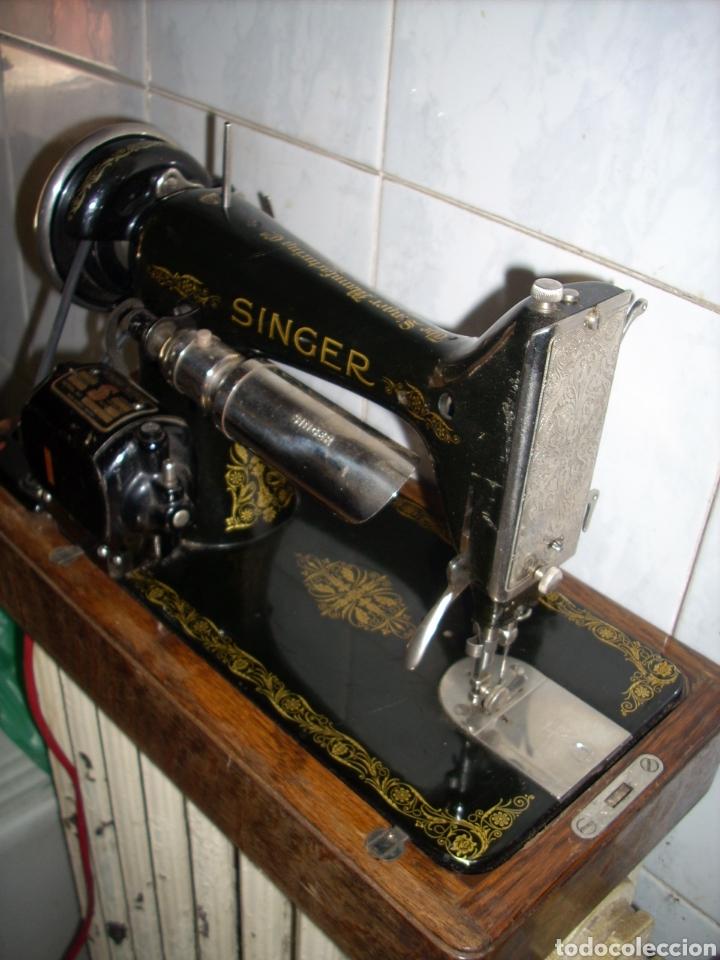 Antigüedades: Maquina de Coser Singer con Motor. - Foto 10 - 171262982