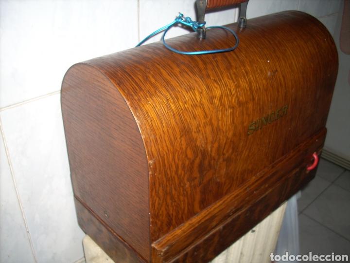 Antigüedades: Maquina de Coser Singer con Motor. - Foto 12 - 171262982
