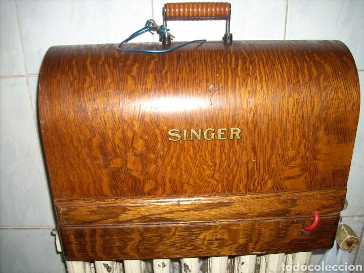 Antigüedades: Maquina de Coser Singer con Motor. - Foto 11 - 171262982