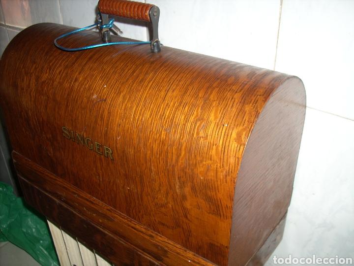 Antigüedades: Maquina de Coser Singer con Motor. - Foto 13 - 171262982