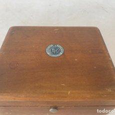 Antigüedades: ESTUCHE PESAS PRECISION CHRISTIAN KLEINMAIR KARLSRUHE FARMACIA JOYERIA. Lote 171296525