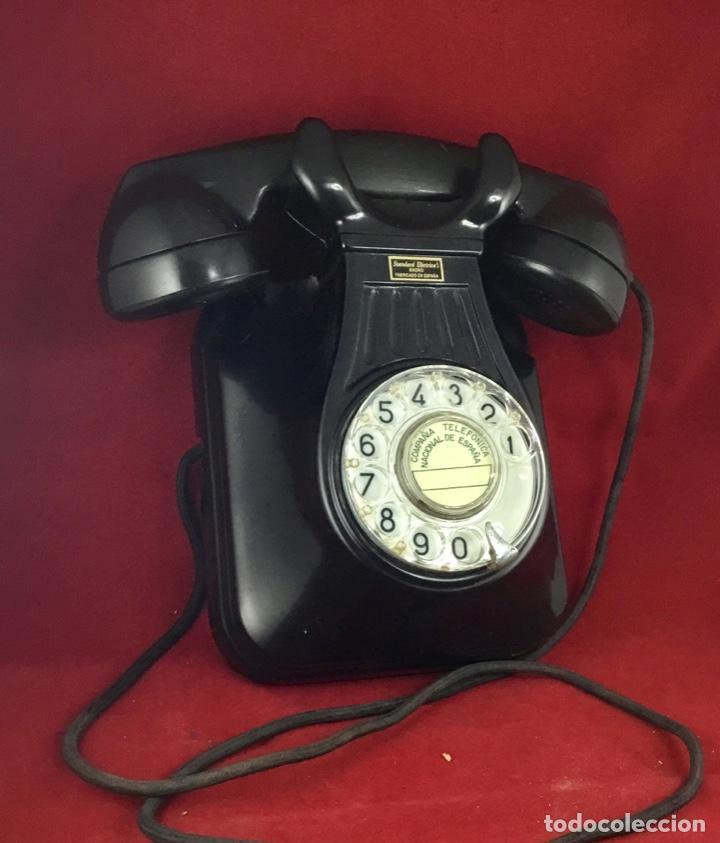 Teléfonos: Antiguo teléfono baquelita español, 5522EZ, de Standard Eléctrica, para la CTNE. - Foto 5 - 171310865