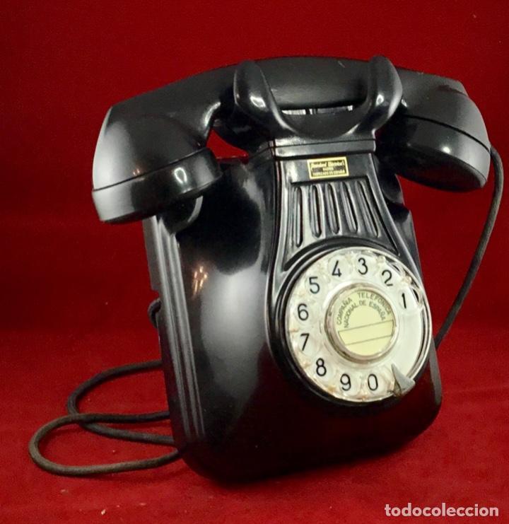 Teléfonos: Antiguo teléfono baquelita español, 5522EZ, de Standard Eléctrica, para la CTNE. - Foto 3 - 171310865