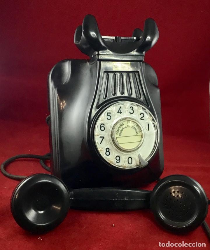 Teléfonos: Antiguo teléfono baquelita español, 5522EZ, de Standard Eléctrica, para la CTNE. - Foto 2 - 171310865