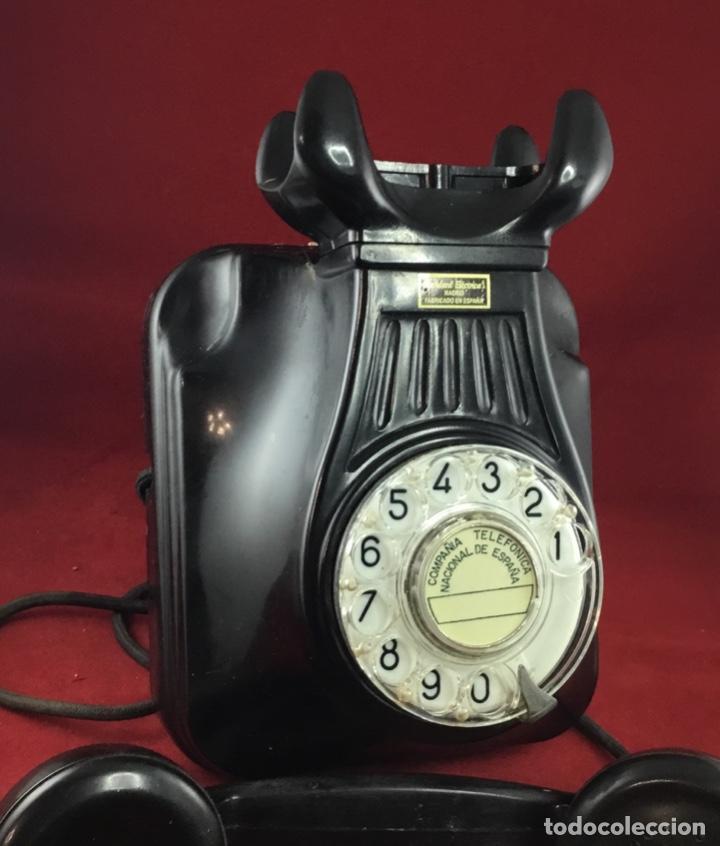 Teléfonos: Antiguo teléfono baquelita español, 5522EZ, de Standard Eléctrica, para la CTNE. - Foto 7 - 171310865