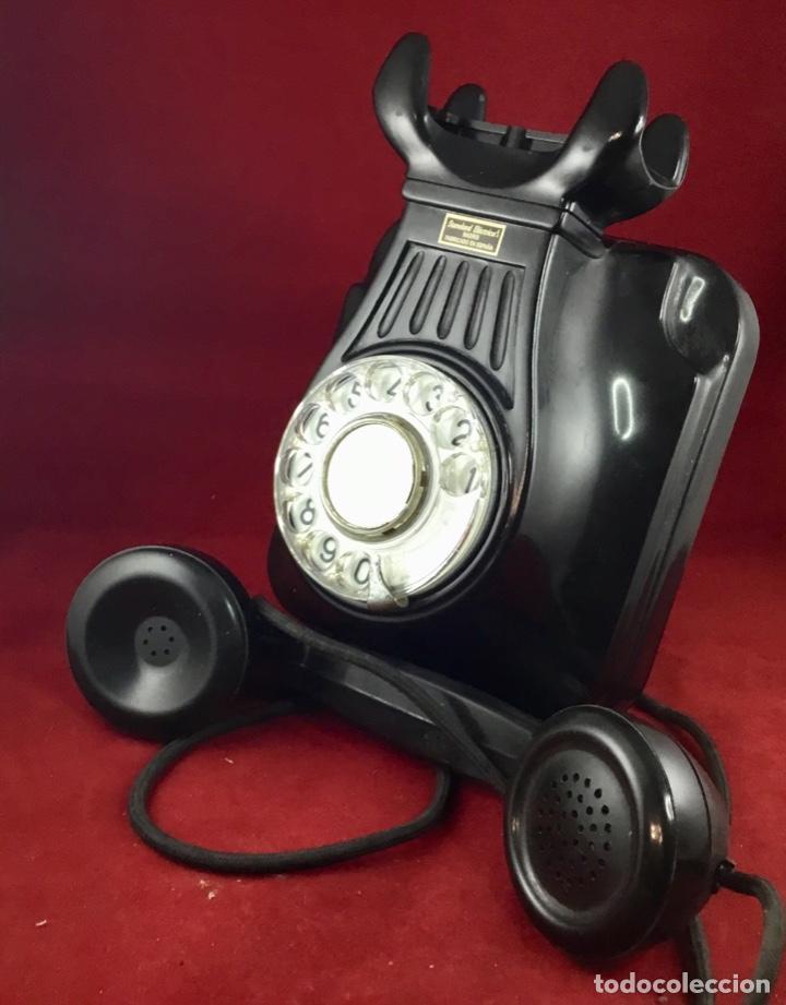 Teléfonos: Antiguo teléfono baquelita español, 5522EZ, de Standard Eléctrica, para la CTNE. - Foto 6 - 171310865