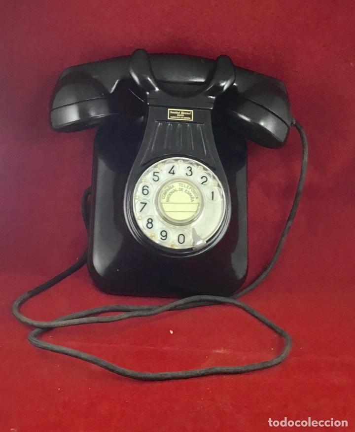 Teléfonos: Antiguo teléfono baquelita español, 5522EZ, de Standard Eléctrica, para la CTNE. - Foto 4 - 171310865
