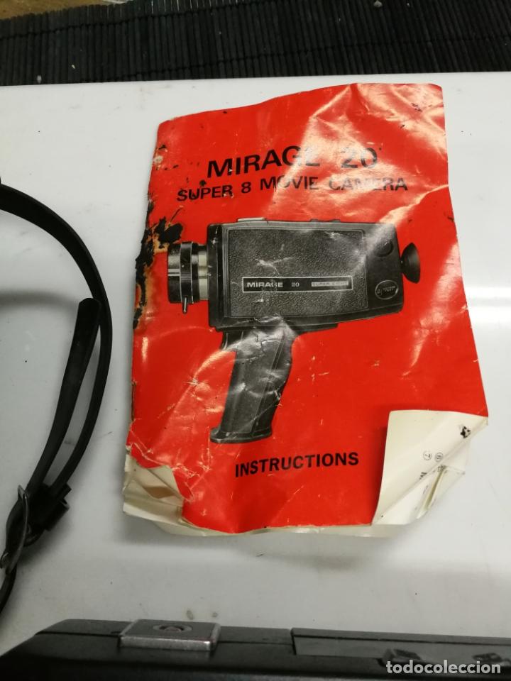 Antigüedades: CAMARA SUPER 8 MIRAGE 20 SUPER EIGHTREFLEX ZOOM. incluye maletín - Foto 2 - 171346072
