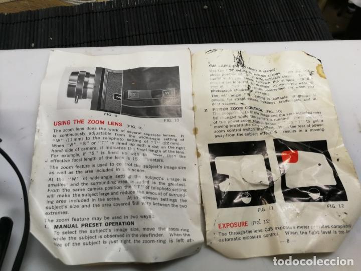 Antigüedades: CAMARA SUPER 8 MIRAGE 20 SUPER EIGHTREFLEX ZOOM. incluye maletín - Foto 4 - 171346072