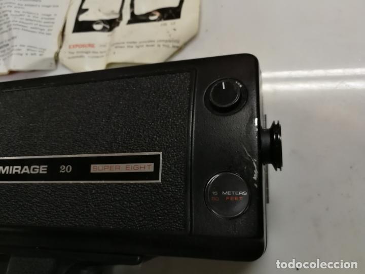 Antigüedades: CAMARA SUPER 8 MIRAGE 20 SUPER EIGHTREFLEX ZOOM. incluye maletín - Foto 6 - 171346072