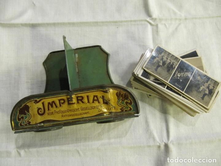 Antigüedades: VISOR ESTEREOSCOPICO IMPERIAL - CON 65 VISTAS CON PUBLICIDAD DE FARMACIA SOL -BARCELONA - MODERNISTA - Foto 2 - 171352319