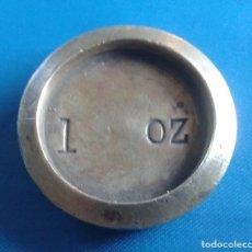 Antigüedades: PONDERAL DE 1 ONZA. Lote 171361402