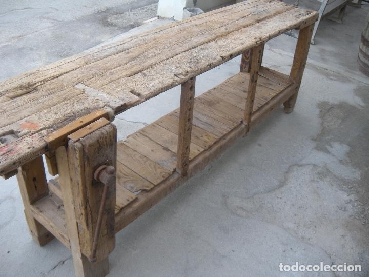 BANCO DE CARPINTERO S. XIX (Antigüedades - Técnicas - Herramientas Profesionales - Carpintería )