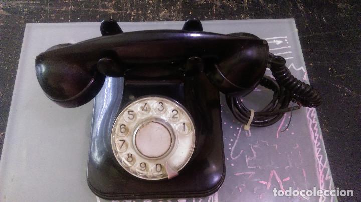 AB-445.- ANTIGUO TELEFONO DE BAQUELITA , - C.T.N.E.- 5523-EZ (Antigüedades - Técnicas - Teléfonos Antiguos)