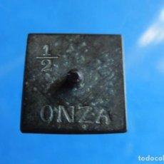 Antigüedades: ANTIGUA PESA DE MEDIA ONZA.. Lote 171439285