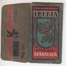 Antigüedades: ANTIGUA HOJA AFEITAR IBERIA EXTRA LUJO ACANALADA CON PRECIO IMPRESO MODIFICADO. Lote 171452567