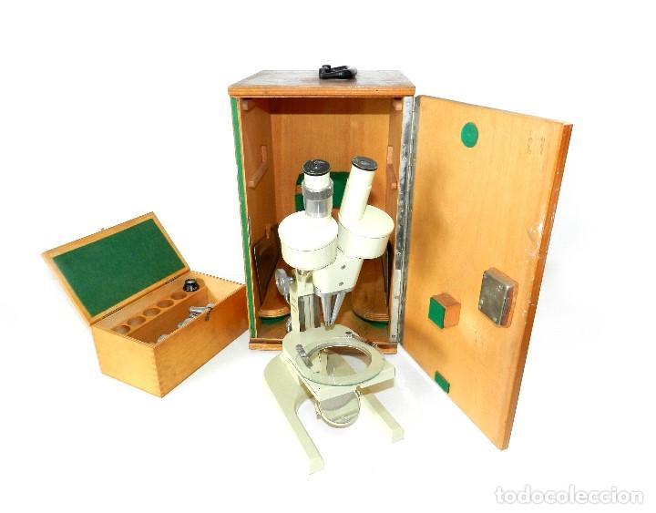 Antigüedades: Microscopio Meopta - Foto 2 - 171455078