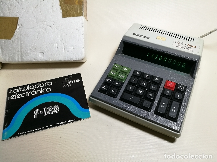 ANTIGUA CALCULADORA ELECTRONICA TRQ .F-120 (TALLERES RADIOELECTRICOS QUEROL) VILASECA TARRAGONA (Antigüedades - Técnicas - Aparatos de Cálculo - Calculadoras Antiguas)