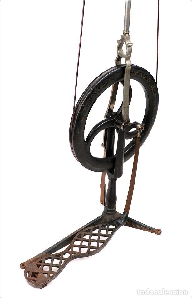 Antigüedades: Antiguo Torno de Dentista a Pedal. Circa 1900 - Foto 8 - 171493839