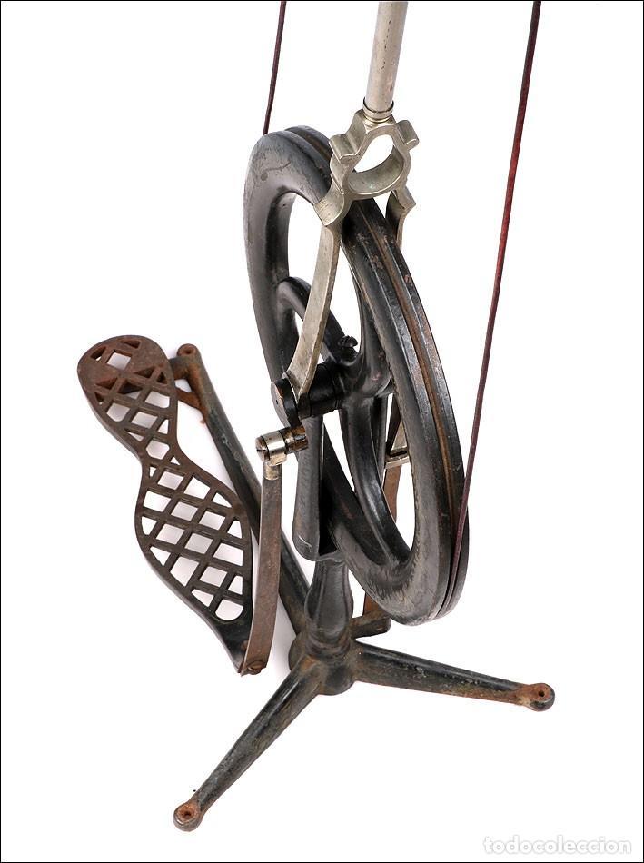Antigüedades: Antiguo Torno de Dentista a Pedal. Circa 1900 - Foto 12 - 171493839