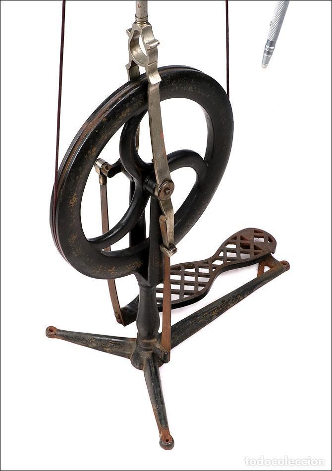 Antigüedades: Antiguo Torno de Dentista a Pedal. Circa 1900 - Foto 13 - 171493839