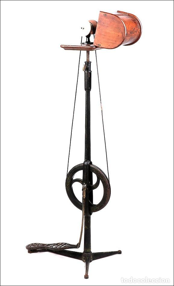 Antigüedades: Antiguo Pulidor de Dentista a Pedal. Circa 1900 - Foto 2 - 171494035