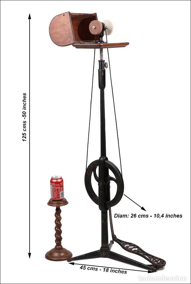 Antigüedades: Antiguo Pulidor de Dentista a Pedal. Circa 1900 - Foto 4 - 171494035