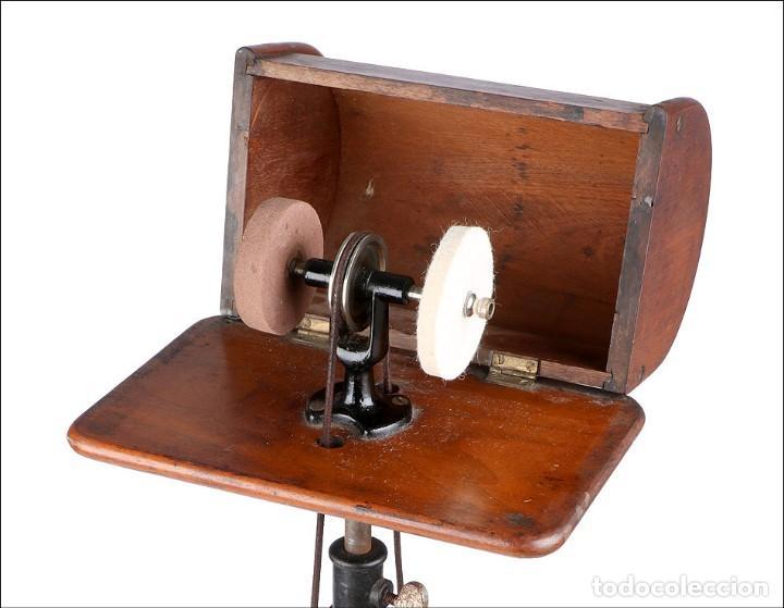 Antigüedades: Antiguo Pulidor de Dentista a Pedal. Circa 1900 - Foto 6 - 171494035