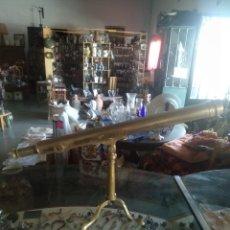 Antigüedades: ANTIGUO TELESCOPIO DE BRONCE SIGLO XLX PERFECTO ESTADO CATALEJO. Lote 171498394