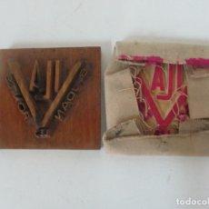 Antigüedades: ANTIGUA PLANCHA - MOLDE EN TALLA DE MADERA Y EN TERRACOTA - PAPELERA VILA, SANT JOAN LES FONTS. Lote 171515920