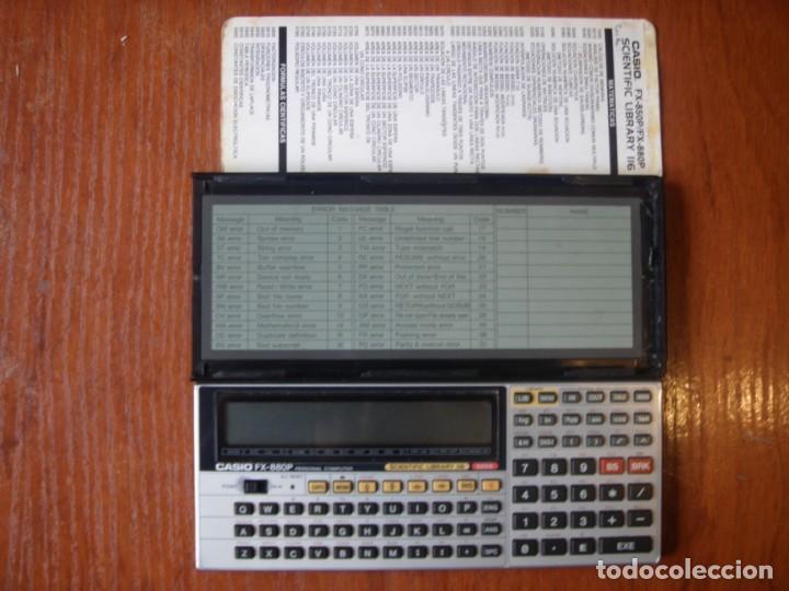 CALCULADORA CASIO FX880P FX-880P CON DEFECTO EN PANTALLA (Antigüedades - Técnicas - Aparatos de Cálculo - Calculadoras Antiguas)