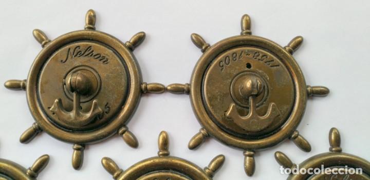 Antigüedades: CINCO TIRADORES METAL - Foto 2 - 171553573