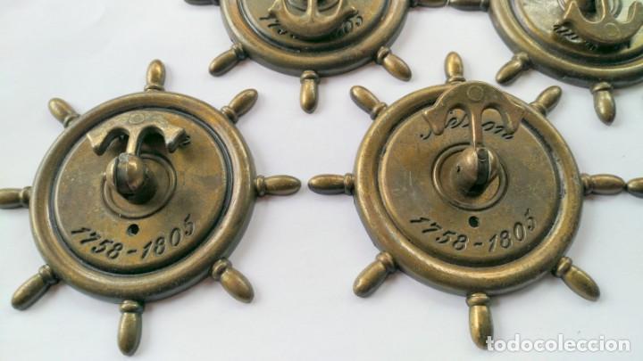 Antigüedades: CINCO TIRADORES METAL - Foto 3 - 171553573