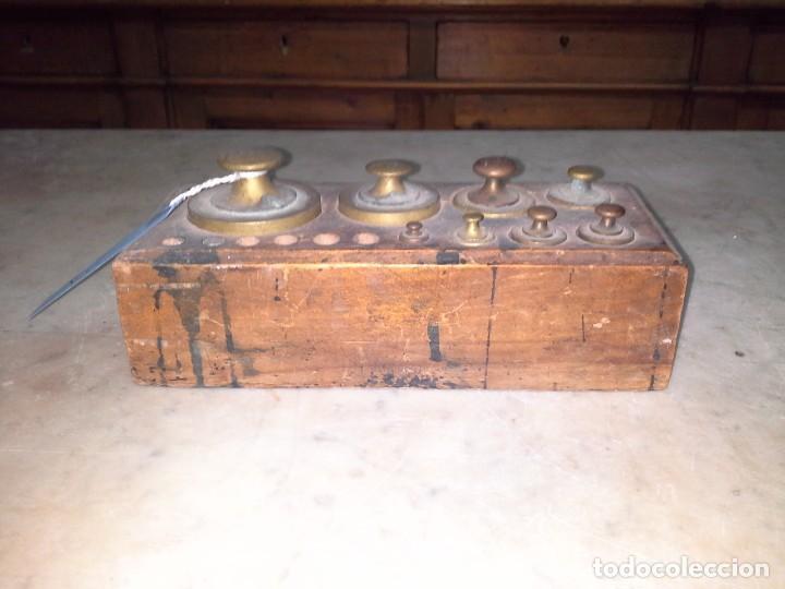 JUEGO PESAS (Antigüedades - Técnicas - Medidas de Peso Antiguas - Otras)