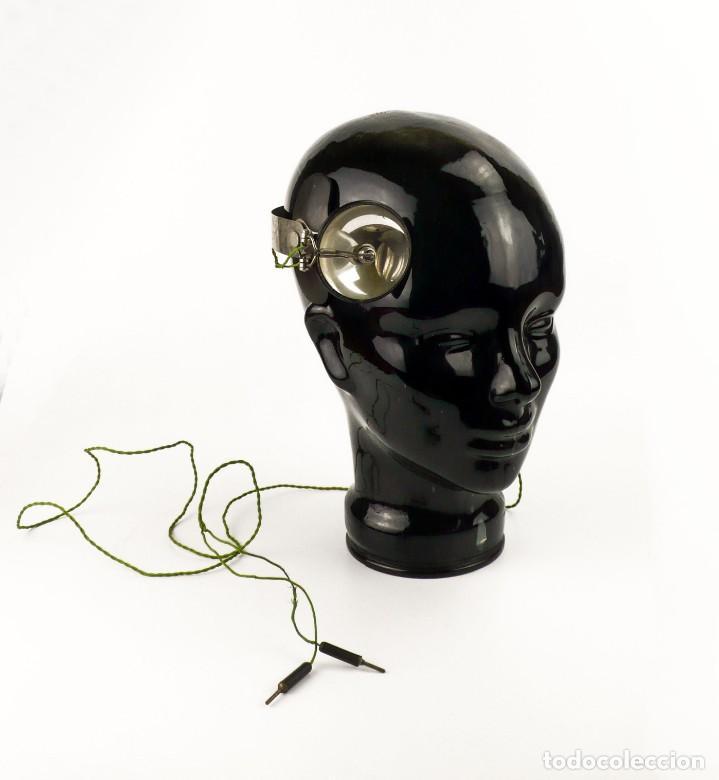 Antigüedades: Luz visor de médico - luz de funcionamiento- medicina - Principios S.XX - Foto 2 - 171634307