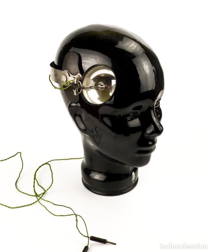 Antigüedades: Luz visor de médico - luz de funcionamiento- medicina - Principios S.XX - Foto 5 - 171634307