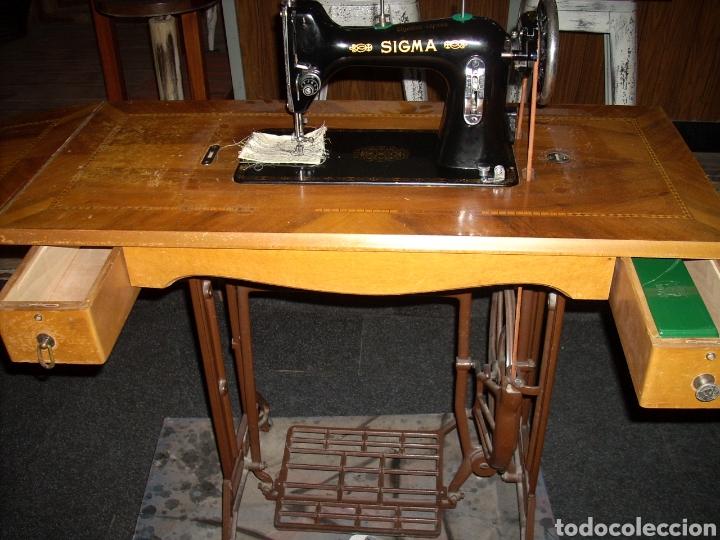 Antigüedades: Antigua Maquina de Coser SIGMA, en muy buen estado y Funcionando - Foto 2 - 171735019