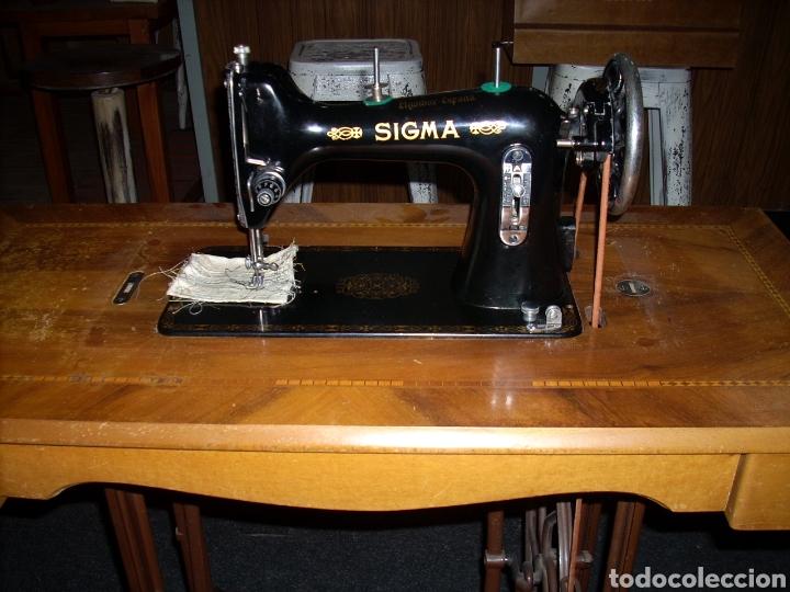 Antigüedades: Antigua Maquina de Coser SIGMA, en muy buen estado y Funcionando - Foto 3 - 171735019