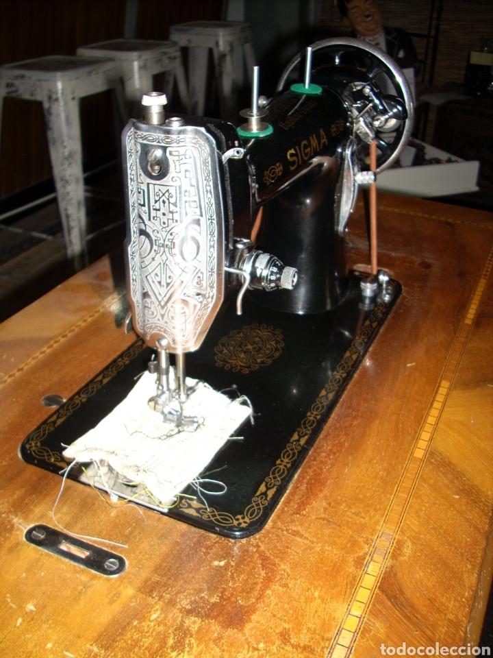Antigüedades: Antigua Maquina de Coser SIGMA, en muy buen estado y Funcionando - Foto 5 - 171735019