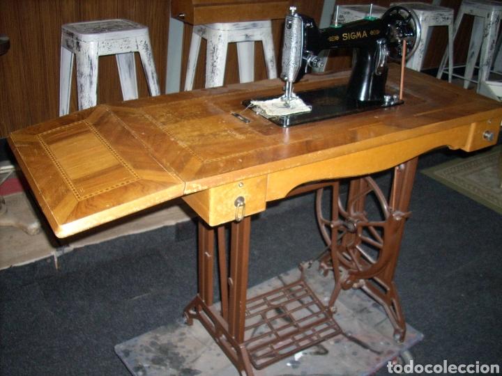 Antigüedades: Antigua Maquina de Coser SIGMA, en muy buen estado y Funcionando - Foto 6 - 171735019