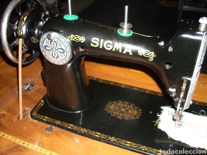 Antigüedades: Antigua Maquina de Coser SIGMA, en muy buen estado y Funcionando - Foto 9 - 171735019