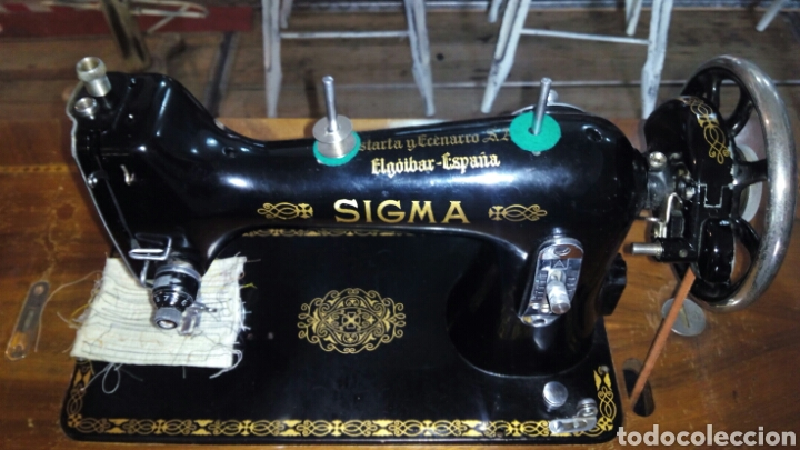 Antigüedades: Antigua Maquina de Coser SIGMA, en muy buen estado y Funcionando - Foto 14 - 171735019
